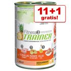 11 + 1 gratis! 12 x 400 g Trainer Fitness 3 Medium/Maxi