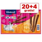 20 + 4 gratis! 24 x 6 g Vitakraft Cat Stick Mini