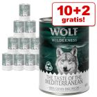 10 + 2 gratis! 12 x 400 g Wolf of Wilderness