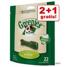 2 + 1 gratis! 3 x Greenies Tandpleje Tyggesnacks