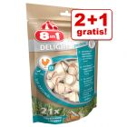2 + 1 gratis! 3 x 8in1 Dental Hundesnacks