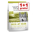 1 + 1 gratis! 2 x 1 kg Wolf of Wilderness tørfoder