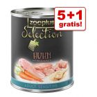 5 + 1 gratis! zooplus Selection, 6 x 800 g