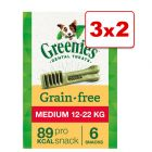 Greenies snacks para el cuidado dental en oferta: 2 + 1 ¡gratis!