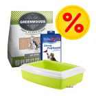 Greenwoods Cat Litter Starter Set - Multibuy Bundle!*