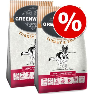 Greenwoods Dry Dog Food Economy Packs 2 x 12kg