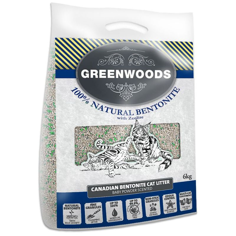 Greenwoods Natural Clay Clumping Cat Litter with Zeolite