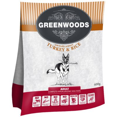 Greenwoods Naturally Hypoallergenic Adult pavo y arroz