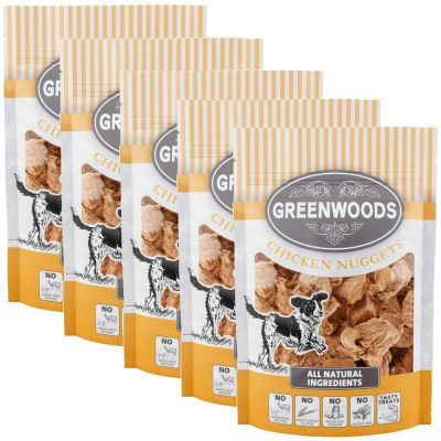 Greenwoods Nuggets Dog Treats Saver Pack 5 x 100g