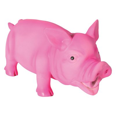 Grunting Latex Squeaker Pig Toy