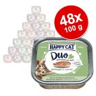 Happy Cat Duo Bidder på Paté i alubakke 48 x 100 g