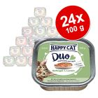 Happy Cat Duo Bidder på Paté i skål 24 x 100 g
