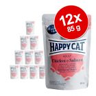 Happy Cat Pouch Kød i sauce 12 x 85 g