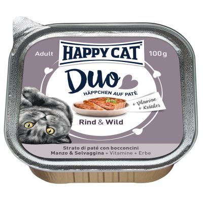 Happy Cat Adult 1,4 kg + 12 x 100 g Happy Cat Duo