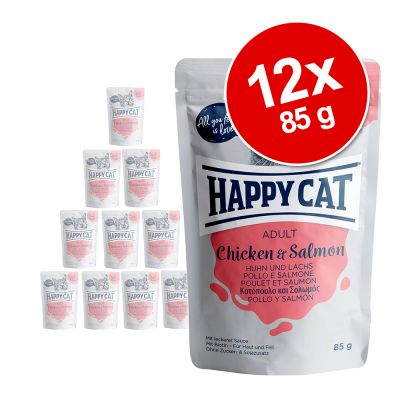 Happy Cat Buste Meat in Sauce 12 x 85 g