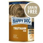 Happy Dog Pur - Tacchino 6 x 400 g