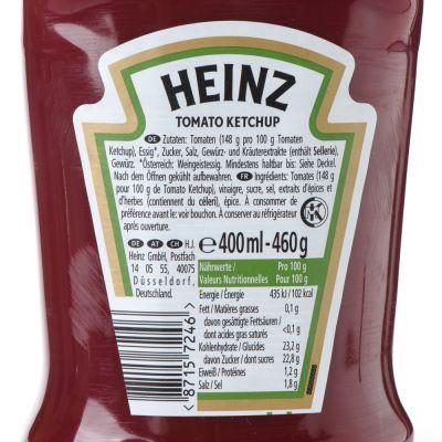 Heinz Ketchup Inhaltsstoffe