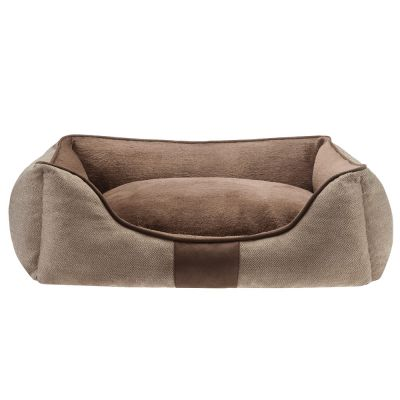 Herringbone Snuggle Bed Brown / Beige