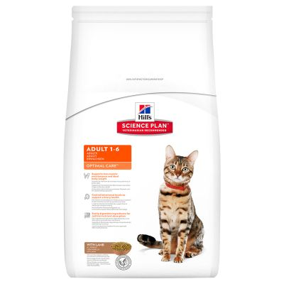 Hill's Adult Optimal Care con cordero para gatos