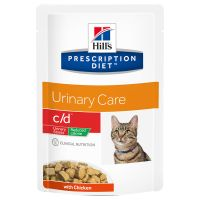 Hill's c/d Prescription Diet Urinary Stress Reduced Calorie sobres para gatos