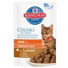 Hill's Feline Adult Cat Optimal Care Maaltijdzakjes 6 x 85 g