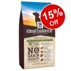 Hill's Ideal Balance No Grain Chicken & Potato - 15% Off!*