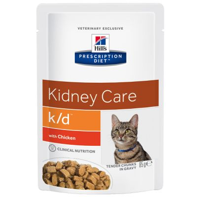 Hill's k/d Prescription Diet Kidney Care sobres para gatos