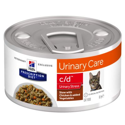 Hill's Prescription Diet c/d Urinary Stress estufado com frango para gatos