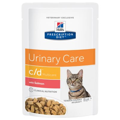 Hill's Prescription Diet Feline c/d Urinary Care, łosoś w sosie