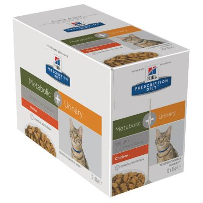 Hill's Prescription Diet Feline Metabolic + Urinary umido per gatti
