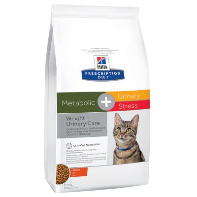 Hill's Prescription Diet Feline Metabolic+Stress Weight+Urinary Care - Chicken