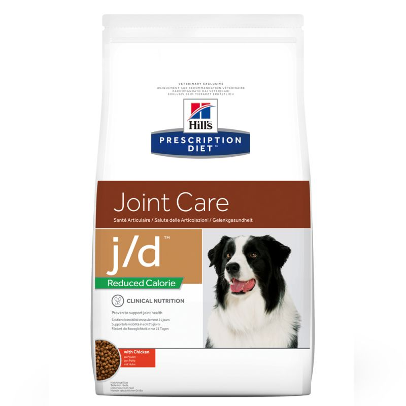 Hill's Prescription Diet j/d Reduced Calorie Joint Care hundfoder med kyckling