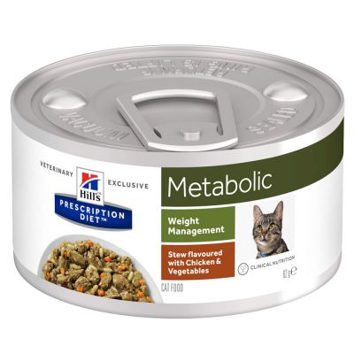 Hill's Prescription Diet Metabolic estufado com frango para gatos