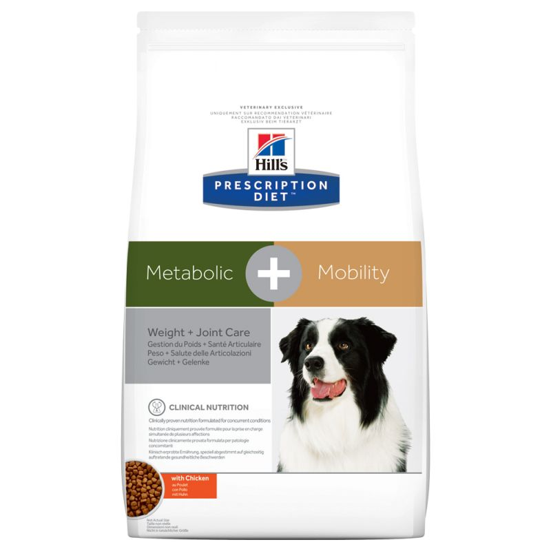 Hill's Prescription Diet Metabolic + Mobility Weight + Joint Care hundfoder med kyckling