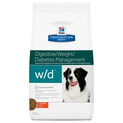 Hill's Prescription Diet w/d Digestive/Weight/Diabetes Management poulet pour chien