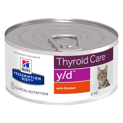 Hill's Prescription Diet y/d Thyroid Care comida húmida para gatos com frango