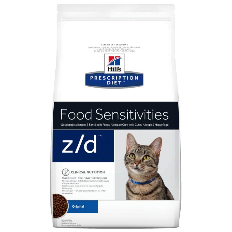 Hill\u0027s Prescription Diet z/d Food Sensitivities , Croquettes pour chat ,  zooplus
