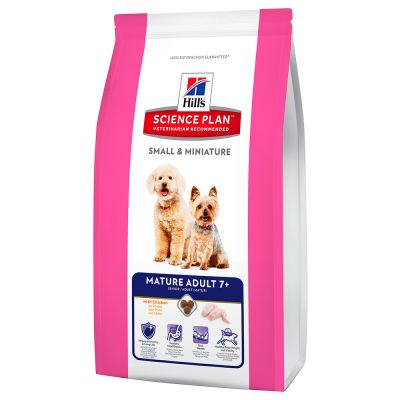 Hill´s Science Canine Small & Miniature Mature Adult 7+ met Kip