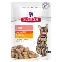 Hill's Science Plan Adult Light Chunks in Gravy Pouches