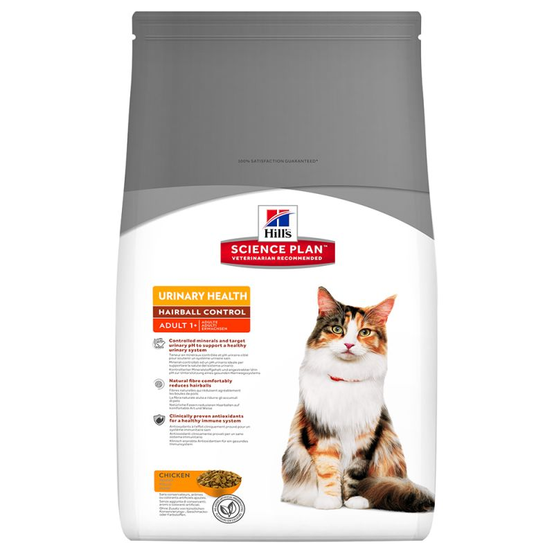 Hill's Science Plan Adult 1-6 Urinary Hairball Control Chicken