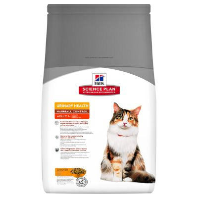 Hill's Science Plan Adult 1-6 Urinary Hairball Control poulet pour chat