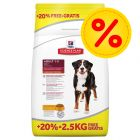 Hill's Science Plan Canine 12kg + 2.5kg Free!*