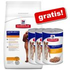 Hill's Science Plan Canine Senior secco + 3 x 370 g umido gratis!