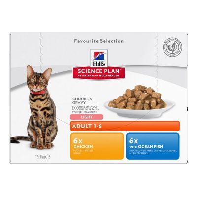 Hill's Science Plan Feline Adult Light Pack Misto