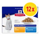 Hill's Science Plan Feline Mature - Pacco misto 12 x 85 g
