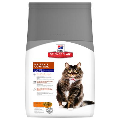Hill's Science Plan Mature Adult 7+ Hairball Control Pollo
