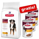 Hill's Science Plan Trockenfutter + 3 x 370 g gratis!