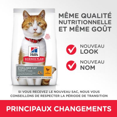 Hill's Science Plan Young Adult Sterilised Cat poulet pour chat