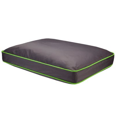 Honeycomb Dog Cushion – Grey & Green