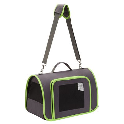 Honeycomb Pet Carrier – Grey & Green